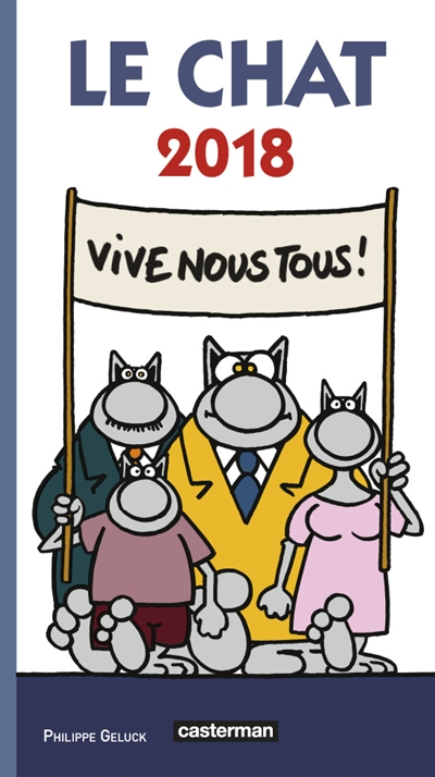 Agenda Le Chat 2018 Geluck Philippe Casterman